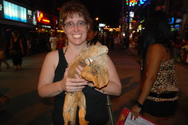 Taking photo with an Iguana on Bangla Road williamcho/Flickr