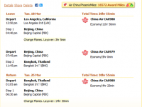 China Air Flight from Los Angeles to Bangkok for  $943 r/t