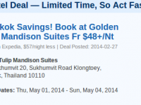 Golden Tulip Mandison Suites in Bangkok under $50