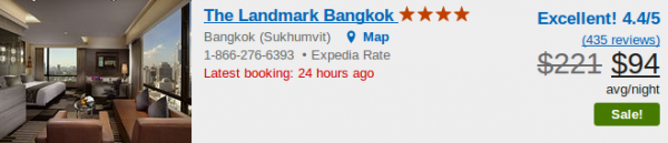 The Landmark Bangkok - deal details