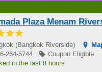 Ramada Plaza Menam Riverside hotel in Bangkok for $63