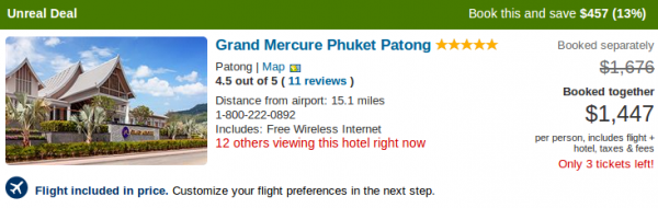Vacation deal details - Grand Mercure Phuket