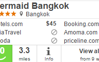 4 star Mermaid Bangkok hotel for $45